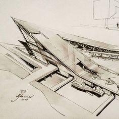BY @mohammadpirdavari #sketch_arq #architecture #design #ideas #architecturestudent #アーキテクチャ #arquitectura #Architektur #sketch #instadaily #drawing #modern #art #modern #follow #architec #architecturesketch #architectureporn