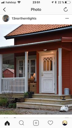 Swedish Cottage, Cottage Style, Veranda Railing, House Trim, Porch Steps, Old Windows, Exterior Remodel, Cottage Homes, Victorian Homes
