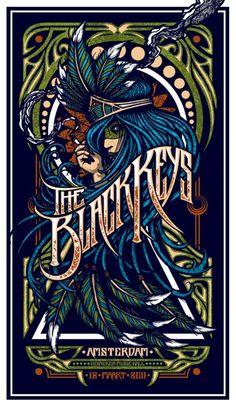 INSIDE THE ROCK POSTER FRAME BLOG: Brad Klausen Tres Mountains Tour Poster and The Black Keys Poster on sale details