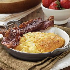 Cheddar Cheese Grits Casserole | This eggs, cheese, and grits combination is simple but absolutely delicious, and a true Southern favorite.