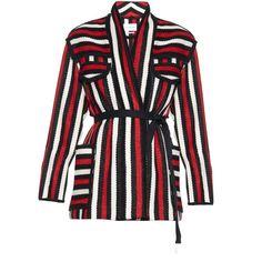 Isabel Marant Étoile Breeda wool-blend striped jacket (2780 MAD) ❤ liked on Polyvore featuring outerwear, jackets, coats & jackets, striped jacket, wool-blend jacket, shawl collar jacket, stripe jacket and etoile--isabel marant jacket