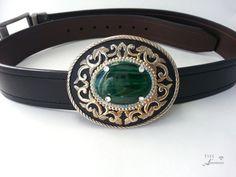 Western belt buckle Malachite Women's Gold by EyesofAnastasia