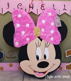 Minnie Mouse Pinata, Minie Mouse Party, Mickey Mouse Birthday Theme, Minnie Mouse Party Decorations, Fiesta Mickey Mouse, 1st Birthday Themes, Hello Kitty Birthday, Google, Kids Part