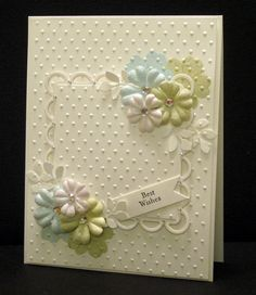 nice flowers with embossing