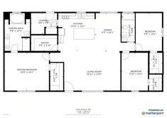 barndominium ideas floor plans Homes Direct - - 1800 sq ft. Metal Homes Floor Plans, Metal House Plans, Pole Barn House Plans, House Plans One Story, Shop House Plans, Ranch House Plans, New House Plans, Dream House Plans, Pole Barn Homes