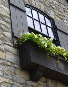 House shutters on pinterest shutters craftsman style for Craftsman style window boxes