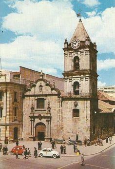 Iglesia de San Francisco en Bogotá a comienzos de los años 60s.