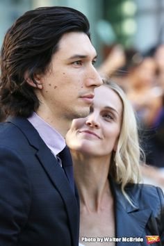 Aww now that is proud wifey face- Adam Driver with his wife Joanne