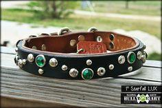 """#bullymart #rockabullgear1114 Bully Mart - 1"""" STARFALL, $50.00 (http://stores.molossermart.com/custom-dog-collars/1-starfall/)"""