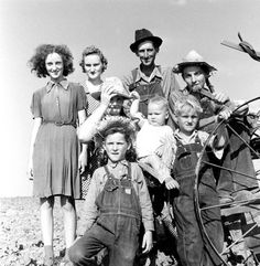 Not published in LIFE. Oklahoma farmer and his family, 1942.
