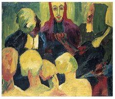 Emil Nolde - Christ in the Underworld