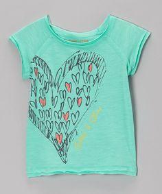 Look at this #zulilyfind! Opal Heart of Hearts Tee - Girls by Eddie & Stine by Eddie Bauer #zulilyfinds