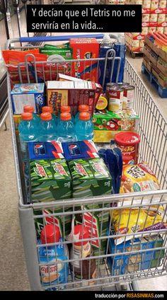 Tetris en el supermercado.