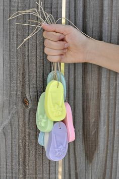 Beautiful beach wedding favors - Flip flop soaps   www.latikasoap.com