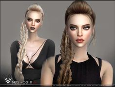Sims 4 CC's - The Best: Hairstyle by Wingssims