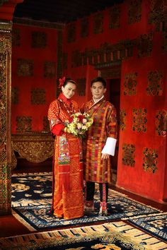 Hong Kong actors Tony Leung Chiu-Wai & Carina Lau Kar-Ling tie the knot in Bhutan.  The nuptials took place at Ugyen Pelri Palace and the couple is wearing Bhutanese attire.