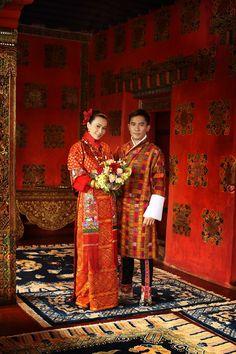 Hong Kong actors Tony Leung Chiu-Wai & Carina Lau Kar-Ling tie the knot in Bhutan.  The nuptials took place at Ugyen Pelri Palace and the couple is wearing Bhutanese attire.