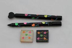 Kutsuwa Hearts Pens and Erasers
