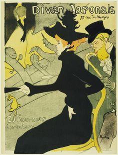 Henri de Toulouse-Lautrec. Divan Japonais. 1893