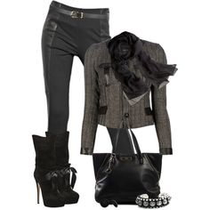 """""""Back in Black"""" by johnna-cameron on Polyvore"""