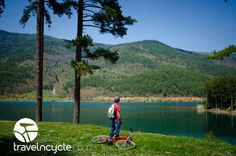 Cyclotourism at #Lake Doxa with #travelncycle