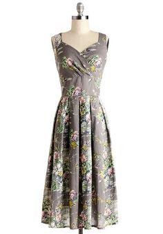 Still Life in Motion Dress in Floral | Mod Retro Vintage Dresses | ModCloth.com