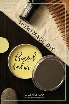 DIY All-Natural, Extra Hold Beard Balm • pronounceskincare.com