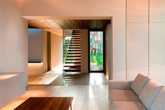 El Bosque House was designed with interiors having continuous visual connection to nature by Ramon Esteve Estudio, on a forested site in Chiva, Spain. Modern Staircase, Staircase Design, Best Interior, Interior Design, Interior Detailing, Home Connections, Ideas Hogar, Forest House, Spanish House
