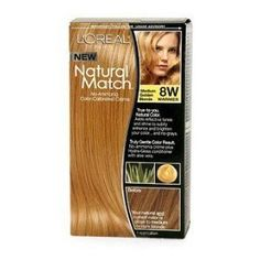 L'Oreal Natural Match Hair Colour, Medium Golden Blonde -- Click image for more details. (Amazon affiliate link)
