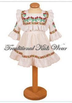 Romanian Traditional Baby Dress, Romanian Traditional Baptism Dress, Flower Girl Romanian Dress, Romanian Traditional Christening Girl Dress