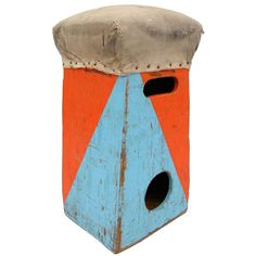 USA  1930's/1940's  A highly vivid and entertaining stool of circus origins. Possibly used as a clown or elephants prop, etc. An