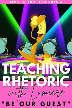 If students need to learn rhetorical analysis in your class, look here to Lumiere! Disney movies always help high school students learn concepts more easily so tackle the rhetorical triangle with your high school English students and use my free downloadable side deck to help you! This lesson plan is for beginners. Ap English, English Lessons, Lumiere Disney, Ap Language, Ap Literature, Side Deck, High School English, Look Here, High School Students