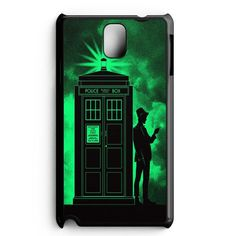 Light Green Clouds Doctor Who Tardis Samsung Galaxy Note 3 Case