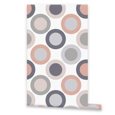 Circles Pattern WALLPAPER Removable Vinyl by EasyWallPaper on Etsy