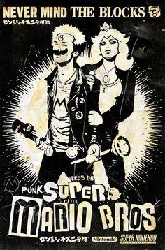 Super Mario Bross na versão punk ~ De volta ao retrô