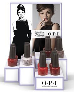 OPI Breakfast at Tiffany's Holiday 2016 Collection - the Reds