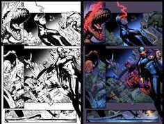 X-men pintado no Curso Online de Colorização de HQ por nosso aluno Daniel da Silva http://www.rainerpettercursos.com.br/ #hqs #comics #quadrinhos #artwork