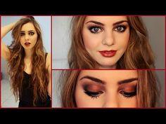 Wearable Jenny Humphrey Gothic Makeup Look! (season 3) Smokey Eyes & Deep Red/Brown Lips - YouTube