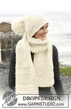 "Ravelry: 102-12 a - textured scarf in ""Eskimo"" pattern by DROPS design"
