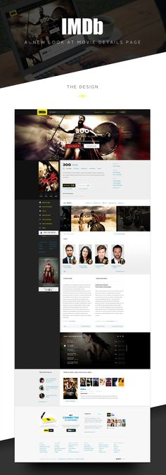 IMDB Movies Page Redesign by Lucas VB