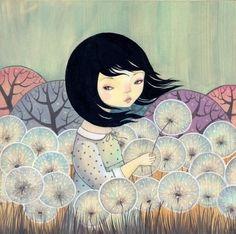 Dandelion girl - Dilkabear