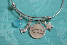 Hey, I found this really awesome Etsy listing at https://www.etsy.com/listing/289285613/i-must-be-a-mermaid-bracelet-adjustable