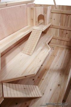 Leopet® - Cage en bois pour rongeurs - NKH-116/3 - 115 x 60 x 58 cm: Amazon.fr: Animalerie