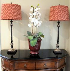 Recovering Lamp shades ... Site also has plenty of other DIY tutorials for the home!