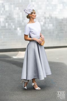 The Best Street Style From Melbourne Cup 2015 - Fashion Trends and Style. Race Day Outfits, Derby Outfits, Races Outfit, Race Day Fashion, Races Fashion, New Fashion, Womens Fashion, Fashion 2017, Day Dresses