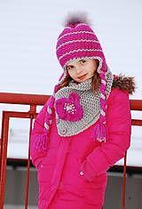 Detské čiapky - Pleteny komplet - 5025071_