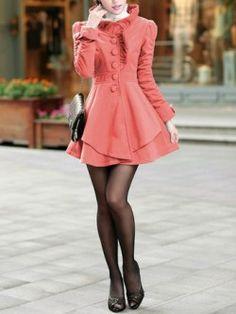 Coral Princess European Style Coat