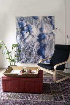 Turn your walls into the ground of a winter landscape with the Winter Blanket by Studio Run Design