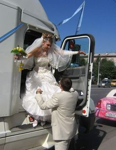 trucker style, idea, semi truck wedding, trucker wife, truck arriv