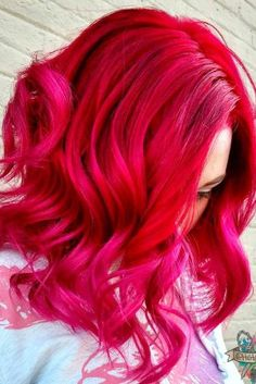 So Pretty Pink To Red Ombre Hair Pinterest Hair Pink